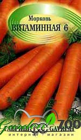 Морковь Витаминная 6 4г - фото 18345