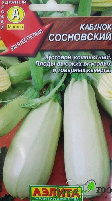 Кабачок Сосновский белоплодный - фото 20048