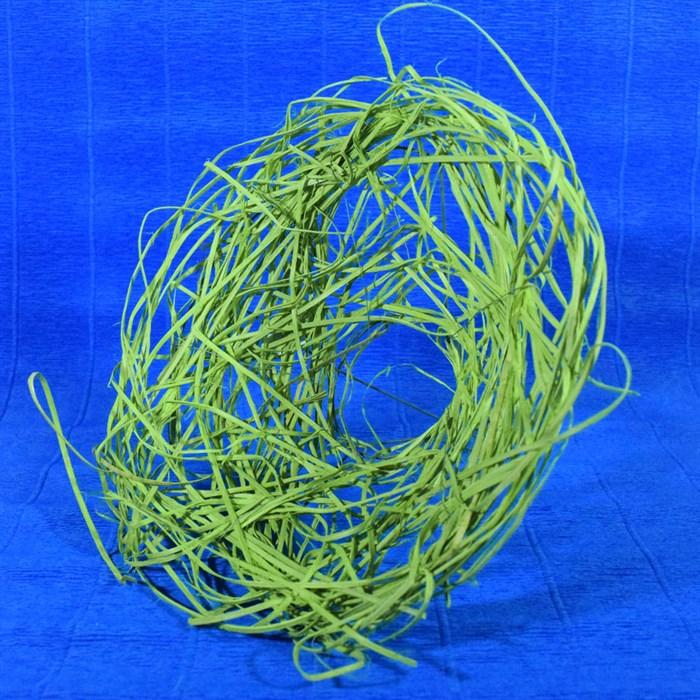 Каркас для букета 25 см ротанг гнездо зеленое яблоко