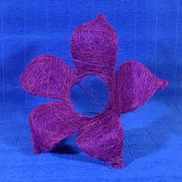 Каркас для букета сизаль цветок 25см фиолетовый