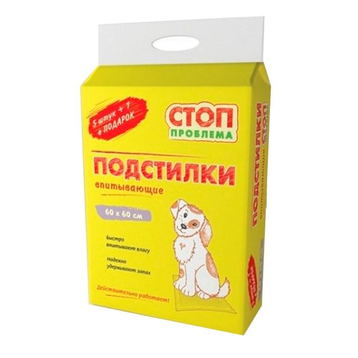 Пеленки СТОП-ПРОБЛЕМА 60*60 (6шт) гелевые
