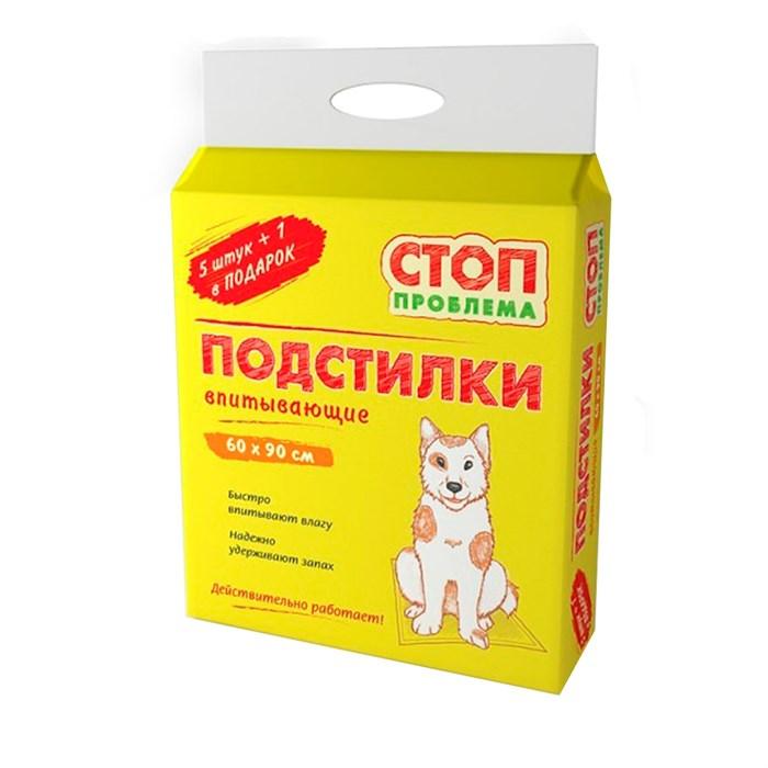 Пеленки СТОП-ПРОБЛЕМА 60*90 (6шт) гелевые