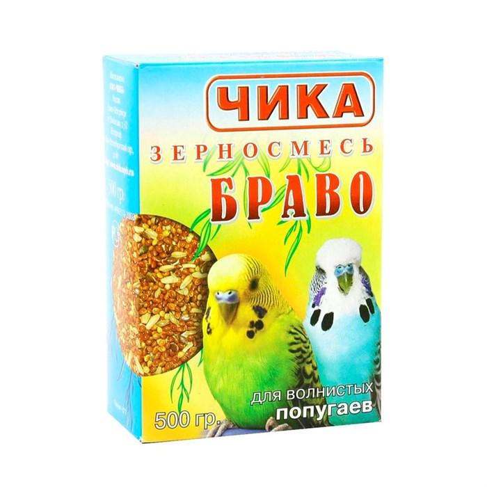 Корм ЧИКА БРАВО для волнистых попугаев