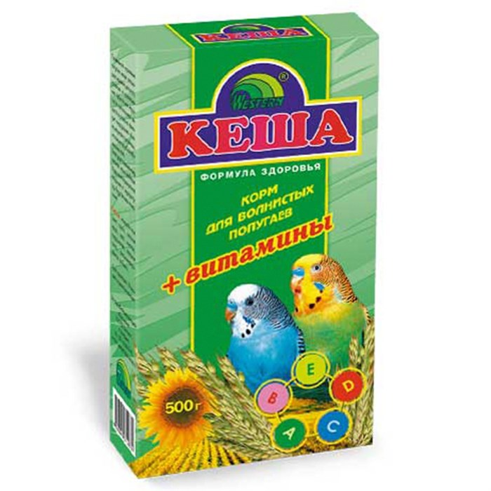 Корм КЕША для попугаев 500г (витамины)