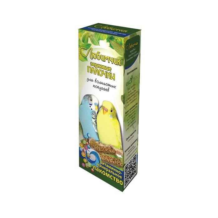 Лакомство ЛЮБИМЧИК для попугаев 2шт витамины и минералы