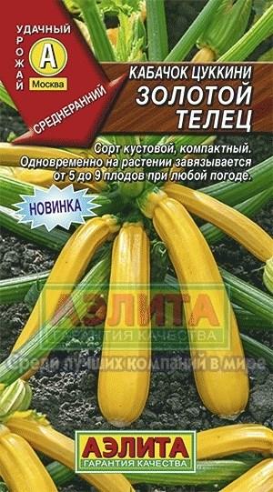 Кабачок Цуккини Золотой телец - фото 28140