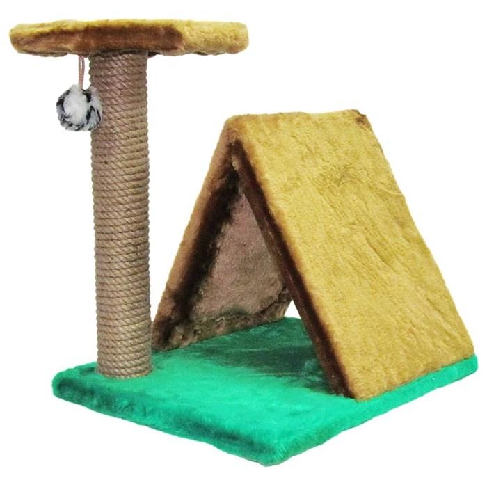 Когтеточка Кэт Кемпинг с игрушкой меховая