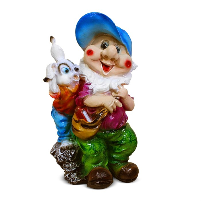 Фигура Гном с зайчиком