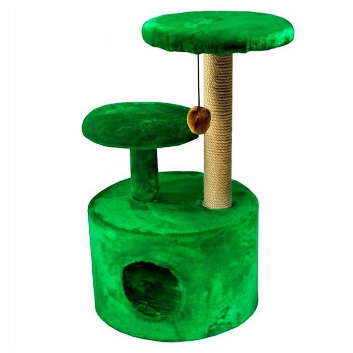 Домик-когтеточка для кошек 3х уровня круглый