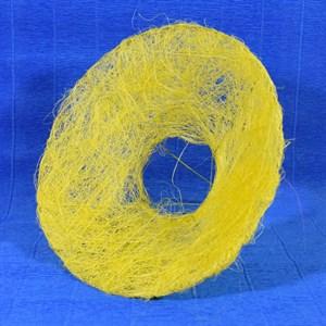 Каркас для букета 25см сизаль гладкий желтый