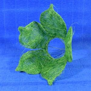 Каркас для букета сизаль цветок 25см зеленый