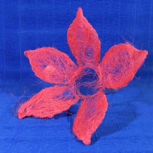 Каркас для букета сизаль цветок 25см розовый