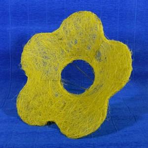 Каркас для букета сизаль цветок Ромашка 25см желтый
