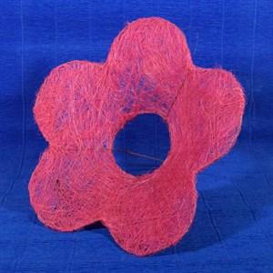 Каркас для букета сизаль цветок Ромашка 25см розовый