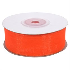 Лента Органза 25мм*25м оранжевая
