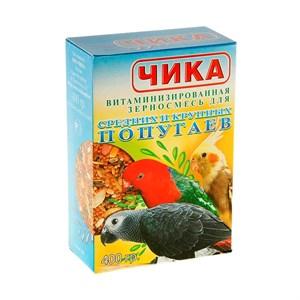 Корм ЧИКА для крупных и средних попугаев