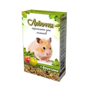 Корм ЛЮБИМЧИК для хомяков 400г (фрукты)