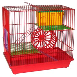 Клетка ГРИЗЛИ для грызунов 3-х этажная комплект (металлическая)