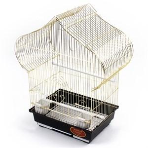 Клетка ЗК для птиц 102G золотая 40*23*50см
