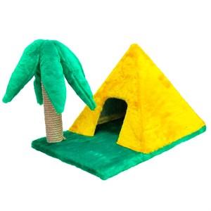 Домик Пирамидка с когтеточкой Пальма меховой