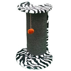 Когтеточка для кошек полукруглая угловая (мех)