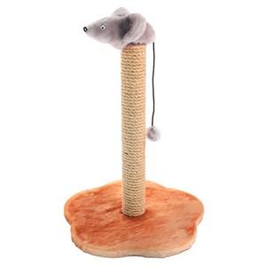 Когтеточка ЧИП столбик с мышью джут