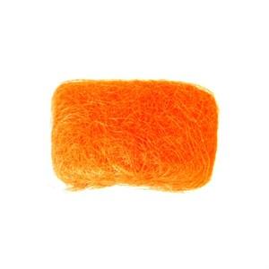 Сизалевое волокно 250 гр ярко оранжевый