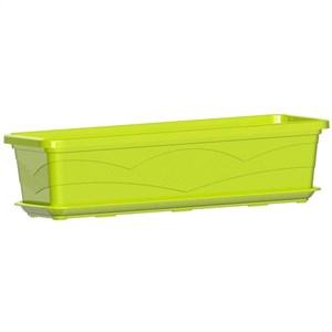 Ящик балконный 60*15см 9л фисташковый