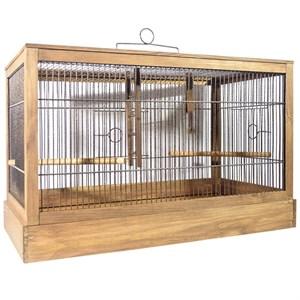 Клетка РЕТРО-КАНТРИ для птиц малая деревянная палисандр