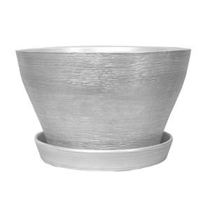 Горшок ФИАЛОЧНИЦА 16см серебро