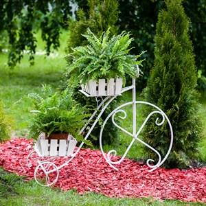 Подставка для цветов Велосипед белая (аренда)