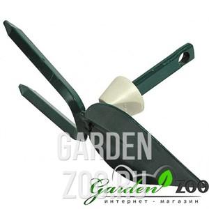 Мотыжка садовая RACO, лезвие лепесток, 2 зубца, с быстрозажимным механизмом, 70 мм