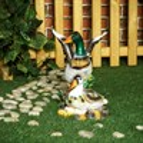 Садовая фигура утка с селезнем