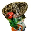 Поилка для птиц Лягушка в шляпе