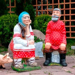 Садовые фигуры людей и персонажей