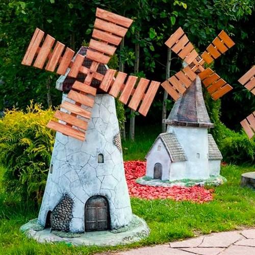 Декоративные мельницы, колодцы