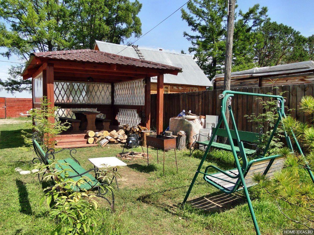 Как разграничить зону отдыха и огород на даче?