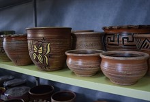 Керамические горшки ручной работы