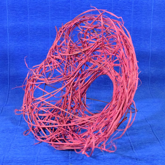 Каркас для букета 25 см ротанг гнездо розовый