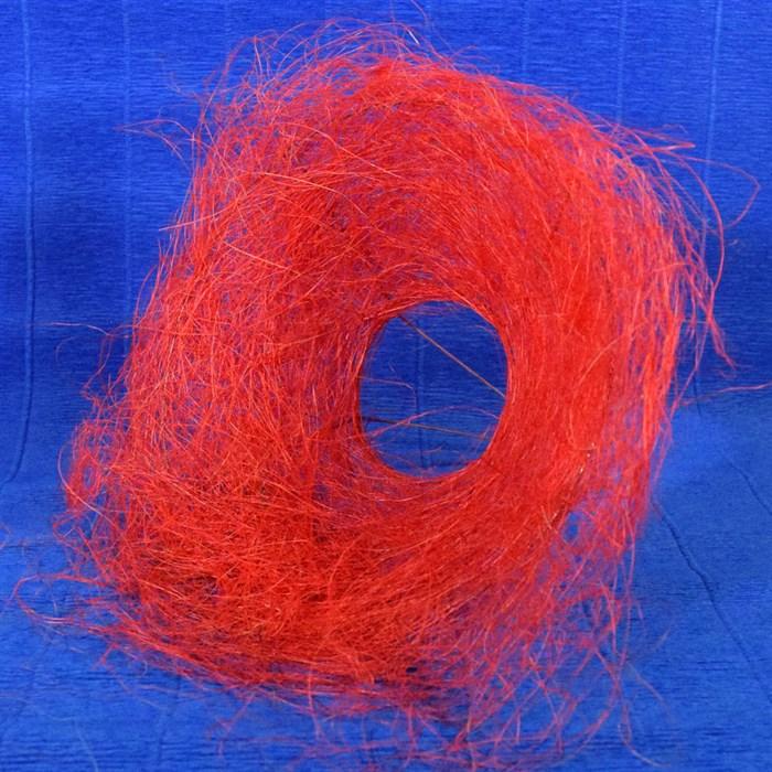 Каркас для букета 25см сизаль гнездо красный