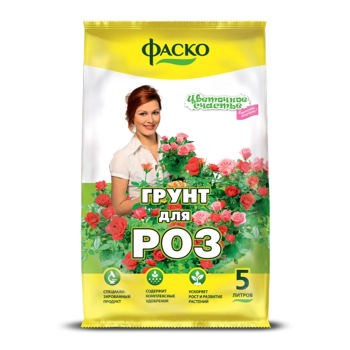 Грунт Цветочное счастье для Роз 5л