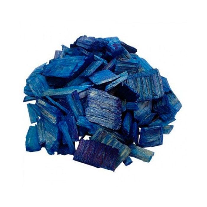 Декоративная щепа синяя