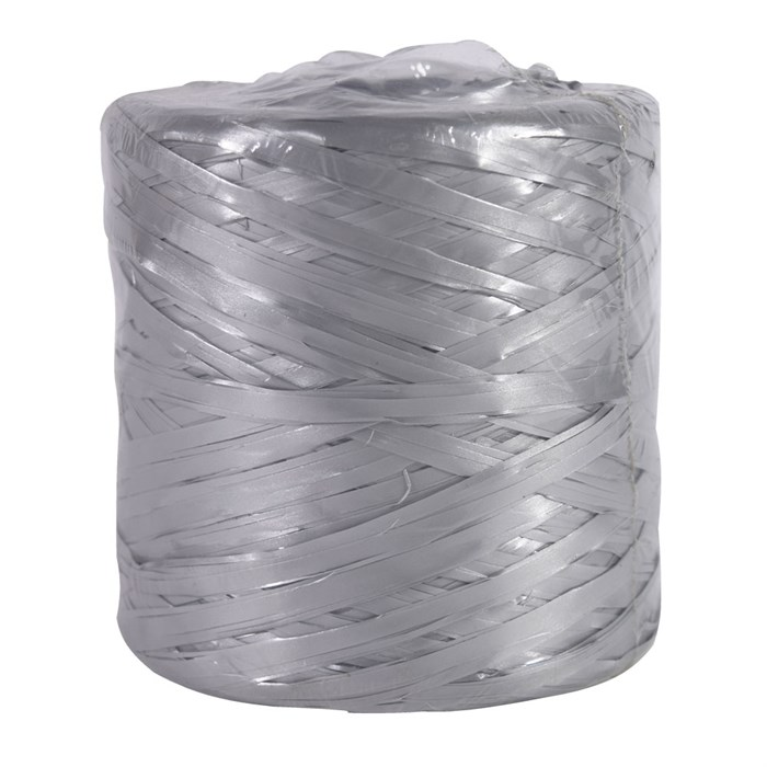 Лента Рафия Басик Пак 200 м синтетика серебро