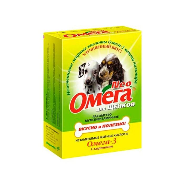 Лакомство Омега Нео для щенков карнит 60т