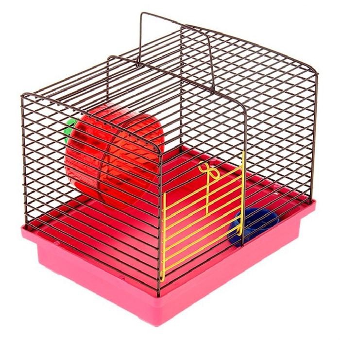 Клетка для джунгариков с миской и колесом