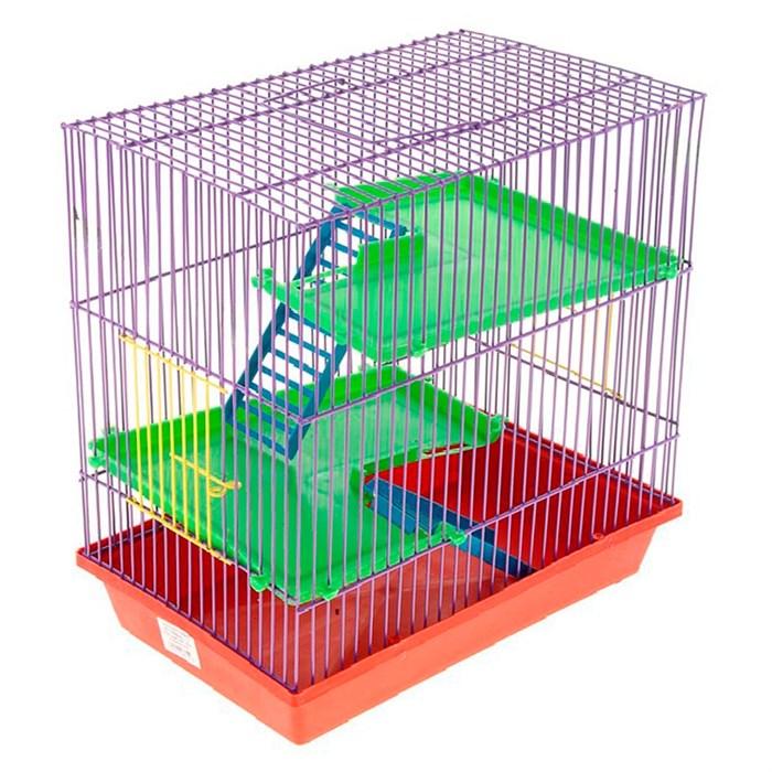 Клетка ГРИЗЛИ для грызунов 3-х этажная комплект (пластик)