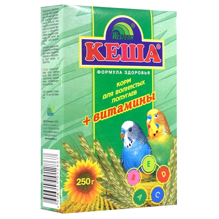 Корм КЕША для попугаев 250г (витамины)