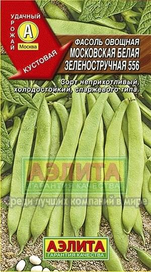 Фасоль Московская белая зеленостручная 556 - фото 28092