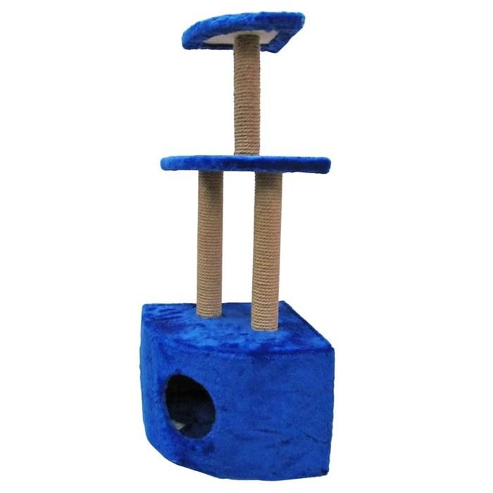 Домик-когтеточка угловой