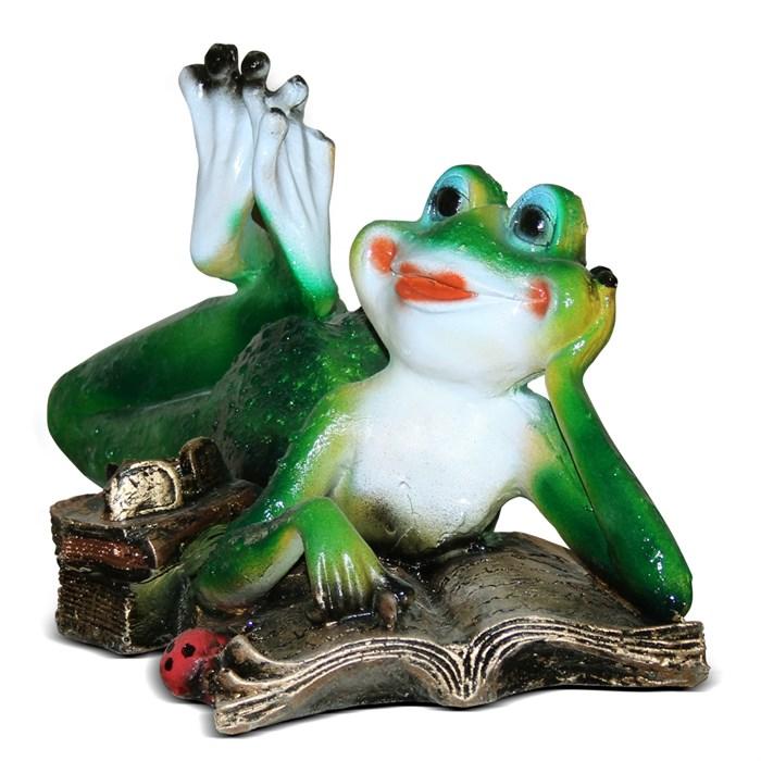 Фигура Лягушка с книгой